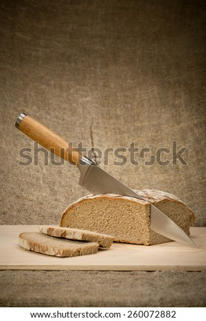 A slice of bread with butter  - stock photo