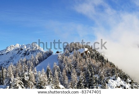 a slope on italian alps - stock photo