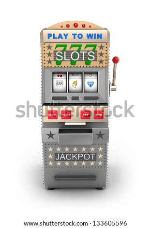 A slot machine, gamble machine. - stock photo
