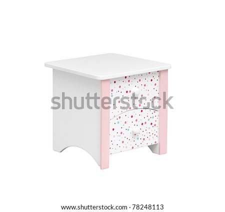 A small cabinet with two drawer for kids room - stock photo
