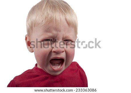 A small child is crying