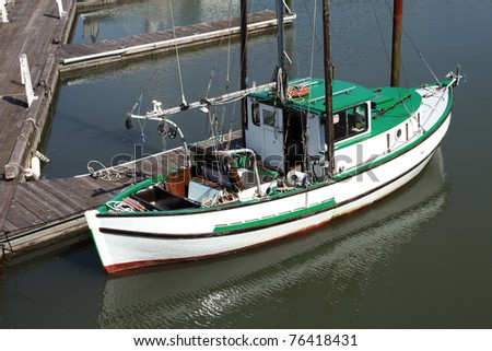 A small fishing boat, Astoria Oregon - stock photo