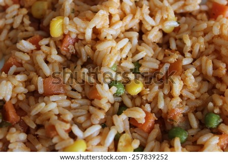 A small portion of delicious vegetable risotto - stock photo