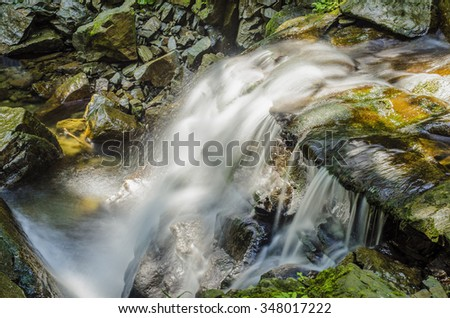 A small waterfall in the Carpathians  Ukraine