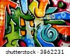 A smart graffiti tag on a brick wall - stock photo