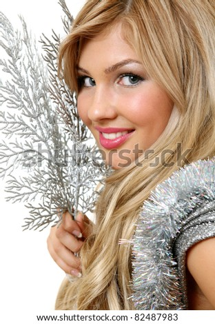 A smiling woman - stock photo