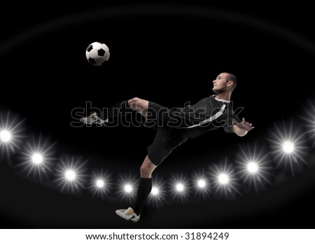 a soccer player in action - stock photo