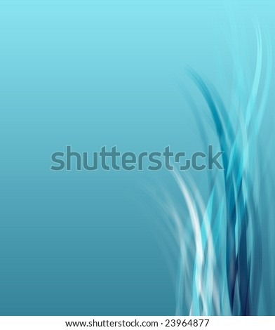 A soft blue background illustration with copyspace. - stock photo