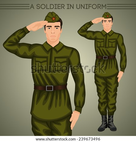 A soldier in uniform - stock photo