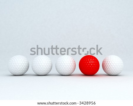 A special red golf ball