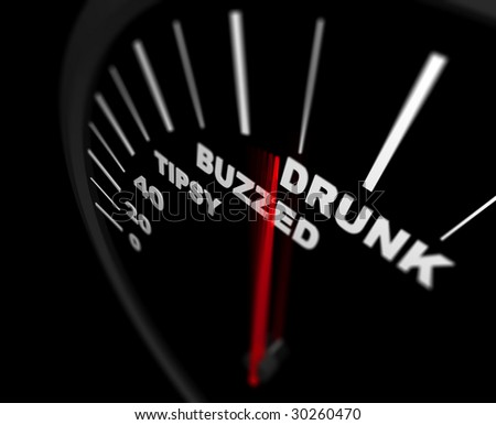 A speedometer measuring how drunk the driver is