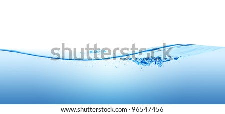 A splash of pure water wave, isolated on the white background. - stock photo