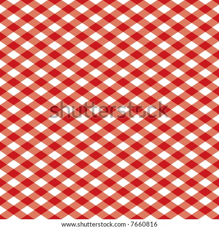 "A 12"" square seamless, repeating checkered pattern in red and white."
