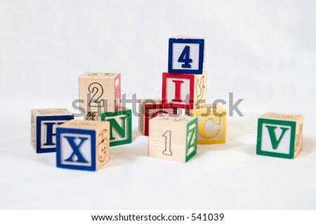 a stack of blocks - stock photo