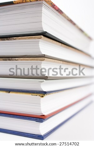 A stack of books (hardcover) - stock photo