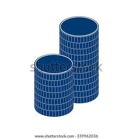 A stack of round coins. Photo illustration.