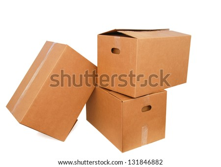 A stacking of carton boxes, in A3-A4 size