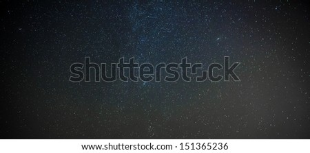 A star cluster within a faint nebula... a birthplace of stars - stock photo