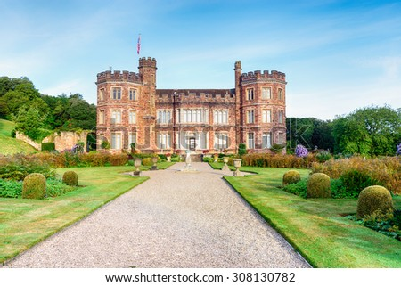 A stately home at Mount Edgcumbe in Cornwall - stock photo
