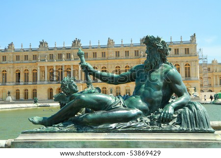 a statue in versailles - stock photo