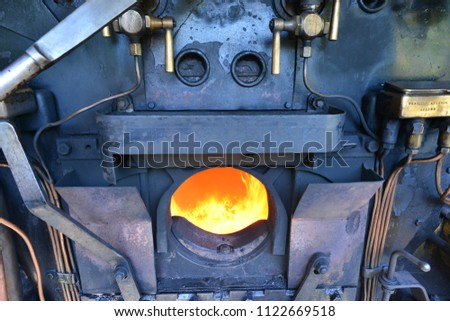 Steam Engine Boiler Searing Fire Stock Photo (Edit Now) 1122669518 ...