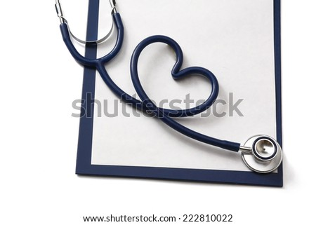 A stethoscope. - stock photo