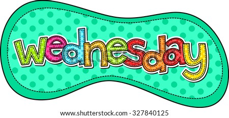 stitch style doodle typeface days week stock illustration 327840125 rh shutterstock com days of the week clipart black and white days of the week calendar clipart