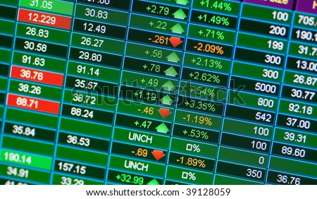 A stock market chart - stock photo