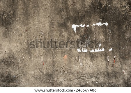 A stock photo of a Closeup fragment of stucco wall of a building