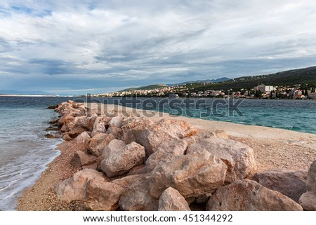 A stone bridge on the coast of Adriatic Sea
