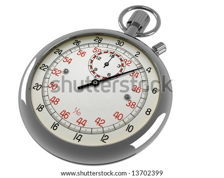 A stop watch on a white background - stock photo