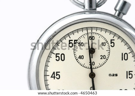a stopwatch fragment - stock photo