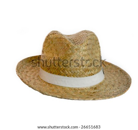a straw hat isolated on a white