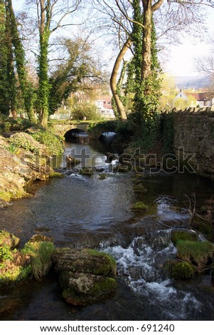 A stream in Cheddar near Bristol