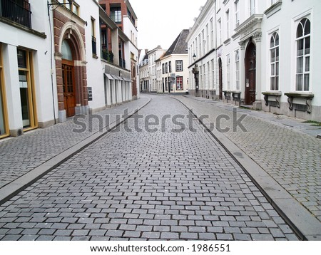 A street in Breda in the province of Brabant, Netherlands - stock photo