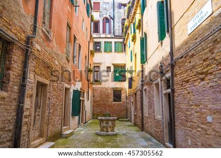 A street in Venice, Italy - stock photo