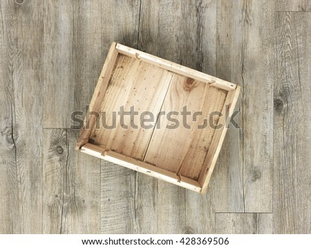A studio photo of a old wooden box - stock photo