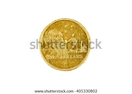 A studio photo of Australian coin currency - stock photo