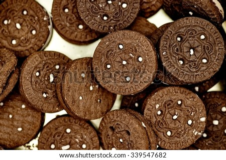 A studio photo of christmas tin biscuits - stock photo
