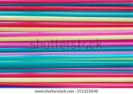 A studio photo of drinking straws