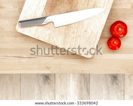 A studio photo of kitchen knives - stock photo