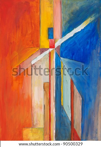 a study for an abstract painting - stock photo