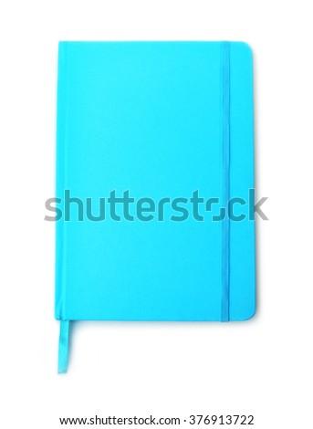 A stylish notebook, isolated on white background - stock photo