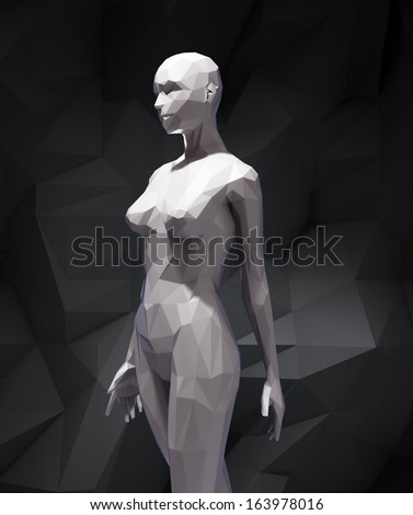 A stylized 3D woman figure - stock photo