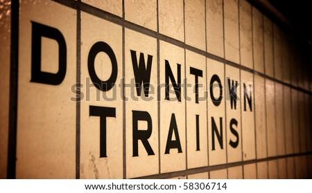 A subway sign - stock photo