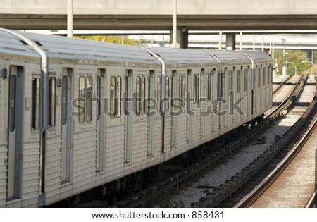 A subway train. - stock photo