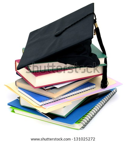 A successful graduating school - stock photo