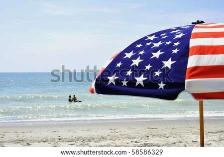 A summer day at the beach, room for your text - stock photo