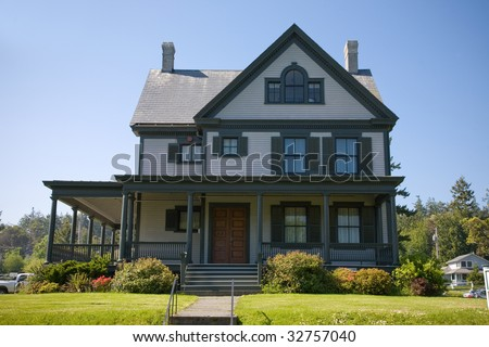 A summer rental house at Fort Worden State Park in Port Townsend Washington.