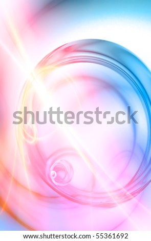 A surreal abstract background liquid spiraling in a circular motion.